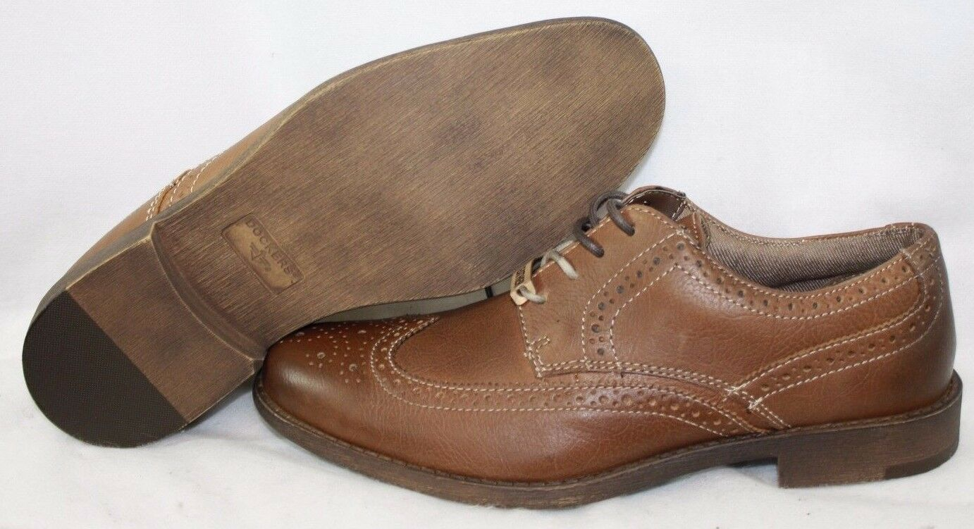 NEW Mens DOCKERS Flagler Tan 90-31512 Comfort Leather Dress shoes