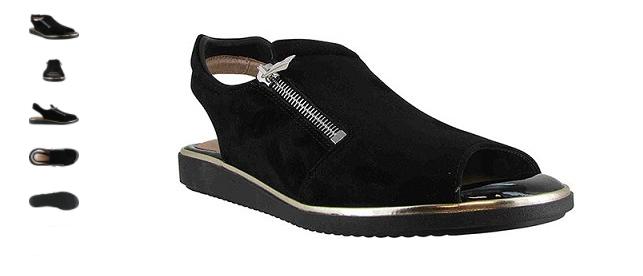 Beautiyel Suri Camoscio Nero Luxe Sandali Misure da  Donna 36 -41   Nuovo  negozio di sconto