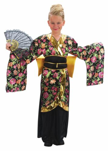 Geisha Girl Childrens Fancy Dress Costume #US XL