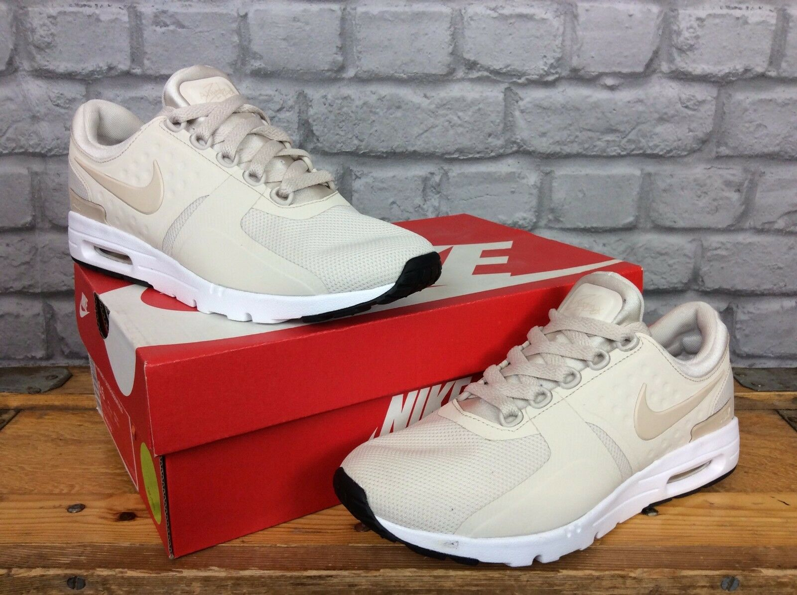 NIKE AIR MAX LADIES UK ZERO 4 EU 37.5 LATTE ZERO UK TRAINERS 177b3b