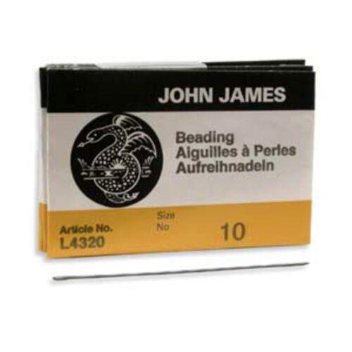 Twenty-Five Size 10 John James English Beading Needles