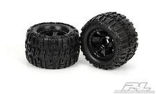 "4 New Pro-Line 17mm MT Wheels 4 Revo 1184-11 3.8"" Mounted Trencher X Tires NIB"
