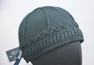KANGOL-Crochet-tete-Cap-Bonnet-bleu-a-Enfiler-Homme-Chapeau-Bonnet-X-Large-61-cm-Nouveau-Neuf-avec