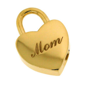 991849b5028e0 Tiffany & Co 18K Gold Mom Heart Padlock Charm Pendant Necklace | eBay