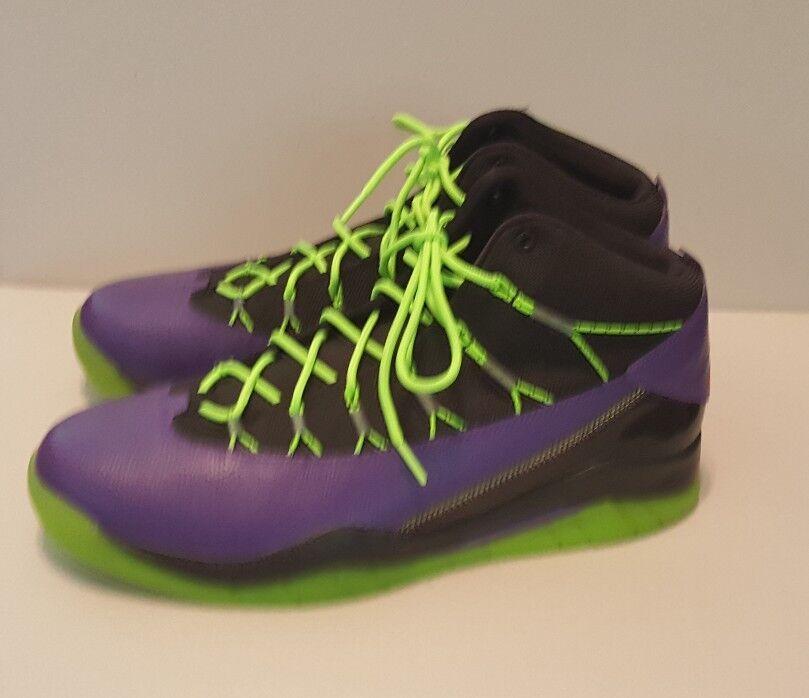 Nike air jordan nuovo primo combattere gli uomini di basket di scarpa, sz, purpleblklime
