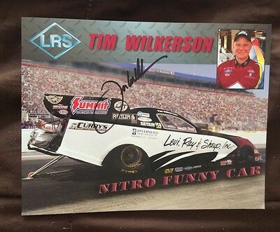 Steve Torrence Signed Promo Card Funny Car Nhra Photo 2015 Autographed