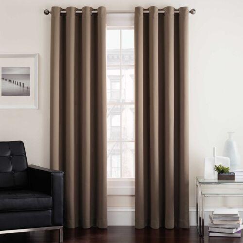 Insola Twilight 95-Inch Room Darkening Grommet Window Curtain Panel in Mocha