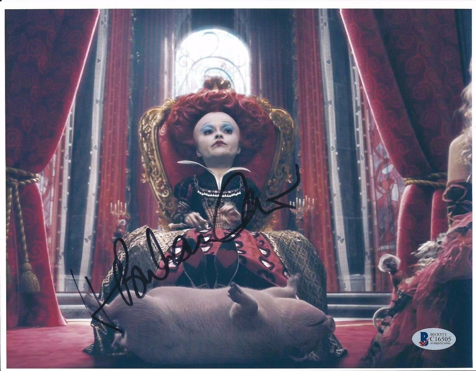 Helena Bonham Carter Signed 8.5x11 Photo *Alice Through The Looking Glass BAS