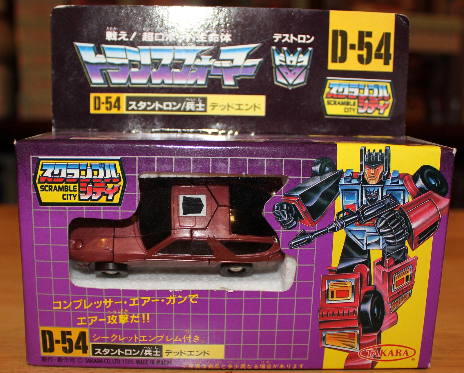 1986 Takara Transformers G1 Series 3 Stunticon Deadend D-54 Scramble City MISB