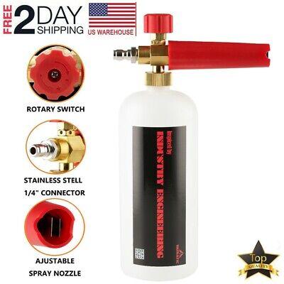 "YAMATIC Snow Foam Lance Cannon Soap Bottle Sprayer For Pressure Washer Gun 1//4/"""