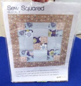 Sew Squared Quilt Kit Block Number 1 Jo Ann Fabric /& Crafts Double Nine Patch