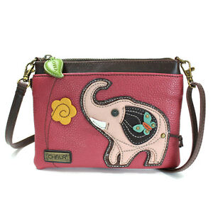 Image Is Loading Chala Handbags Pink Elephant Mini Crossbody Phone Purse