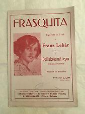 SPARTITO MUSICALE FRASQUITA DELL'ALCOVA DEL TEPOR FRANZ LEHAR ROMANZA-FOXTROT