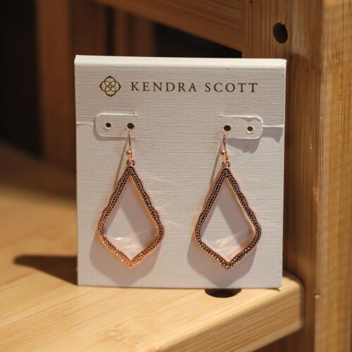 Authentic Kendra Scott Sophia Small Drop Rose Gold Earrings