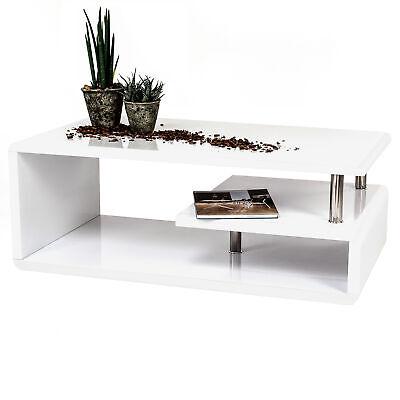 Couchtisch PICO - Tischplatte 110 x 60 cm - Hochglanz Weiß ...
