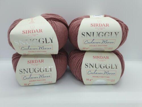 Sirdar Snuggly Cashmere Merino DK Dusty Rose 0463 4 x 50g Balls 200g