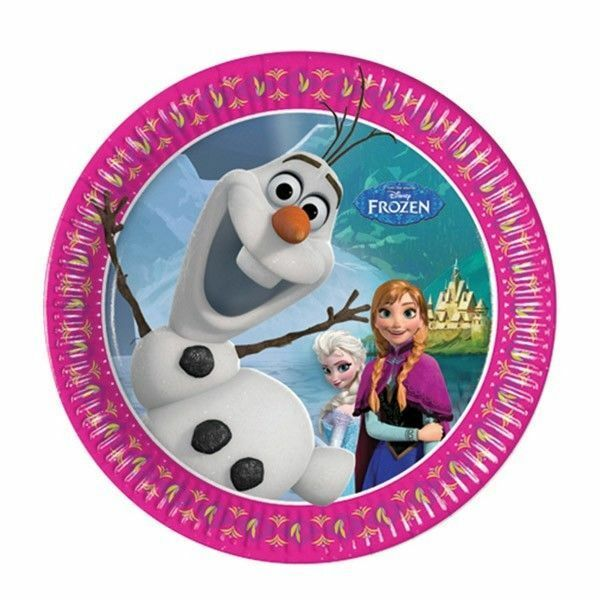 Disney Frozen Party Supplies Dessert Cake Plates 8 Pack Birthday  Small Lunch