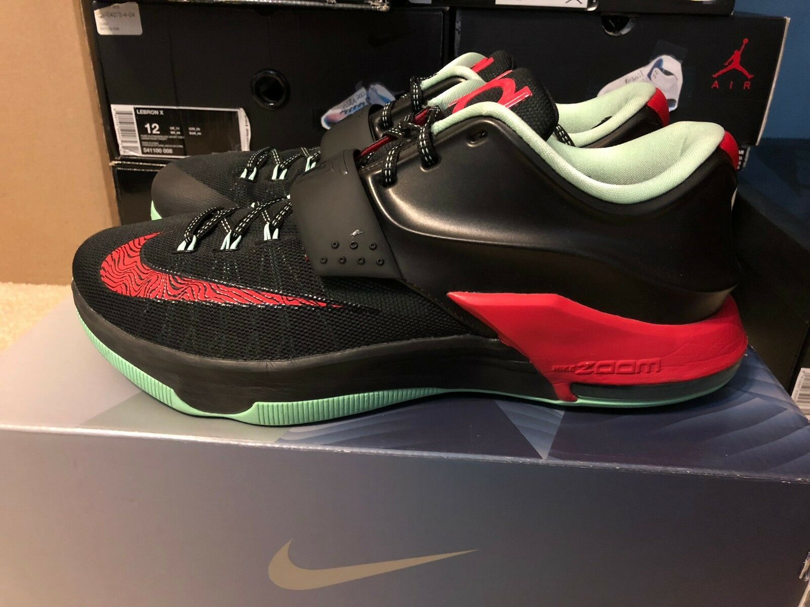 521e60eb7c1b8 ... Nike KD VII 7 Bad Apple black red red red mint size 12 preowned 105d99  ...