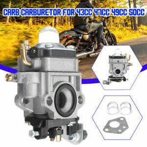 Carburador-Primer-Bombillas-Pieza-para-43-47-49-50cc-2-Tiempos-Desbrozadora
