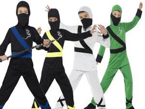 Ninja-Assassin-Disfraz-Ninos-Chicos-Vestido-de-disfraz-conjunto-de-artes-marciales