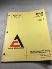 Allis Chalmers 545b Wheel Loader Operators Manual