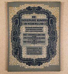 TOEGEPASTE KUNSTEN IN NEDERLAND - HET TOONEELDECOR Theatre Sets 1923 Dutch Book