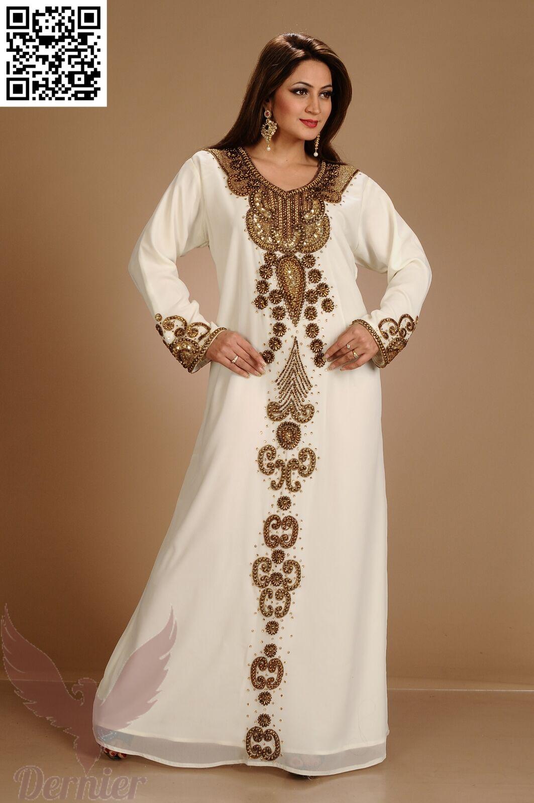 Bridal Women Kaftan Islamic Abaya Belt New MgoldCCAN MgoldCCAN MgoldCCAN Farasha Jilbab Dress  K31 3cbfab