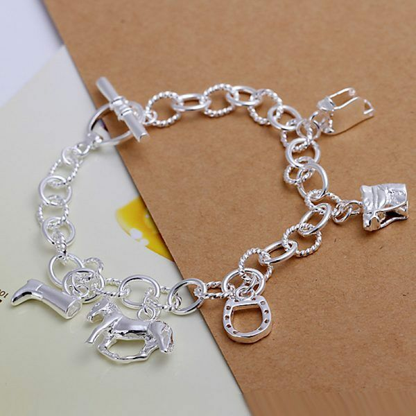 hot charms new silver Horse cute best sale new Lady WOMEN Bracelet Jewelry H74