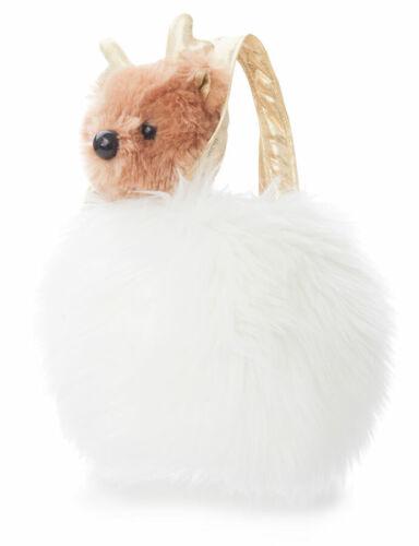 Aurora Fancy Pals Rentier in Mini Tasche 18 cm Kinder Spielzeug Stofftier Plüsch