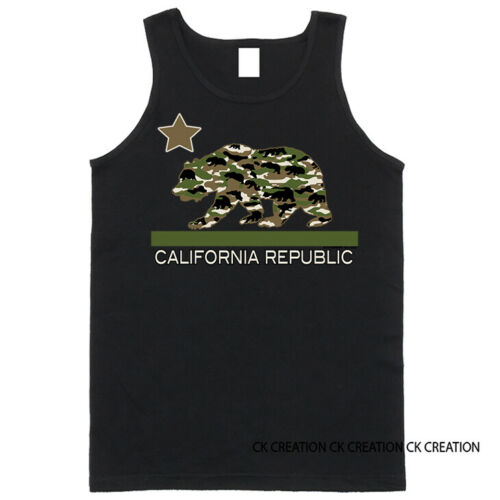 Camo  Bear Cali Bear California Republic  Graphic T shirt