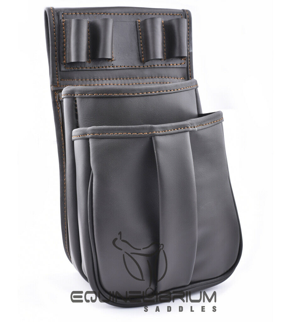 Leather Clay Game Shooting Belt Fitting Shotgun Cartridge Pouch  Bag  quality product