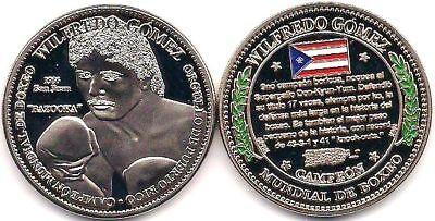 WILFREDO GOMEZ Campeon Boxeo PUERTO RICO World Boxing Champion Medalla SAN JUAN
