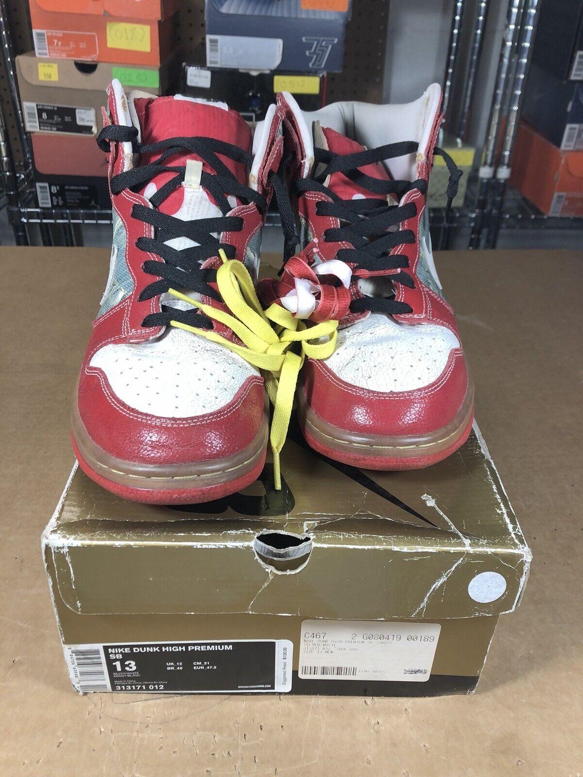 reputable site f5bce c0c35 100% Authentic Nike Nike Nike Dunk Sb High shoes Goo Size 13 313171 012  2062d1