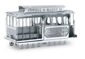 Tram-Cable-Car-3D-Metal-Kit-Silver-Edition-Metal-Earth-1002