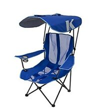 Oversized Camping Chair With Canopy Blue Folding Outdoor Sports Portable Seat