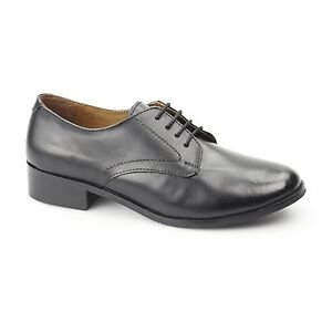Grafters-Ladies-Womens-Leather-Lace-Up-Smart-Work-Uniform-Comfort-Shoes-Black