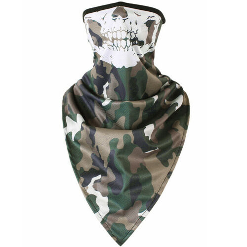 Camouflage Skull Cycling Shield Neck Tube Motorcycle Scarf Wrap Party