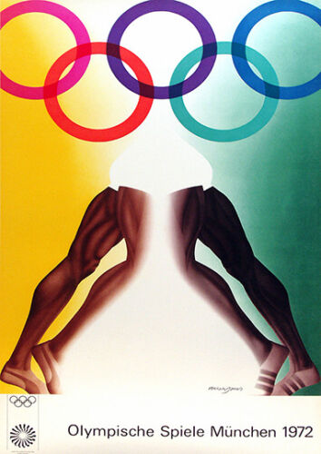Vintage 1972 Olympic games Poster reproduction. Munich Olympics