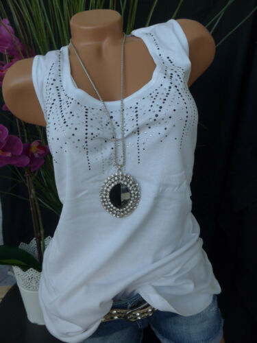 40-56 Weiß mit Pailletten NEU Sheego Top Shirt Gr 423