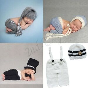 83171e364 Details about Newborn Baby Girl Boy Crochet Knit Costume Photography Photo  Prop Outfits Infant