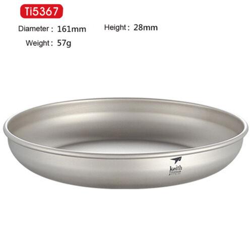 Keith Ultralight Titanium Plate Ultralight Potable Outdoor Camping Tableware