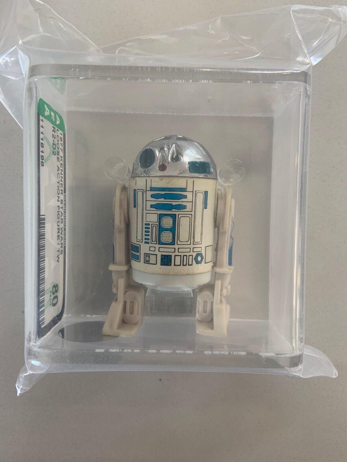 Estrella WARS KENNER 1977 R2-D2 Taiwán autoridad Figura de Acción 80+ Casi Nuevo Droid