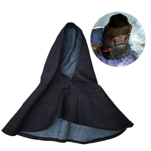 Denim Blue Flame Retardant Welding Head Neck Protective Hood Welder Safe Covers
