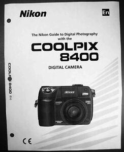 nikon coolpix 8400 digital camera user guide instruction manual ebay rh ebay co uk nikon coolpix a10 camera instruction manual nikon coolpix a10 camera instruction manual