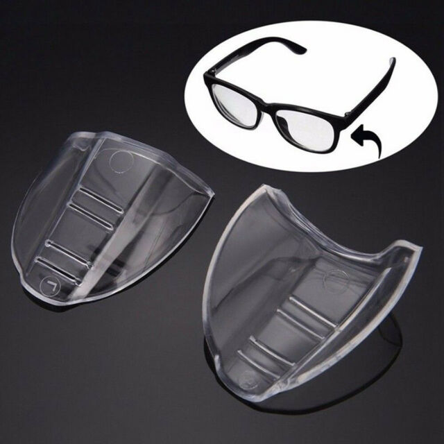 1 Pair Eye Protective Flexible Clear Safety Goggles Side Shields UK
