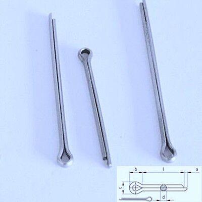20 St/ück Federstecker Federsplint 2,5 mm Durchmesser Edelstahl Splint Sicherungsstift Sicherungsklammer