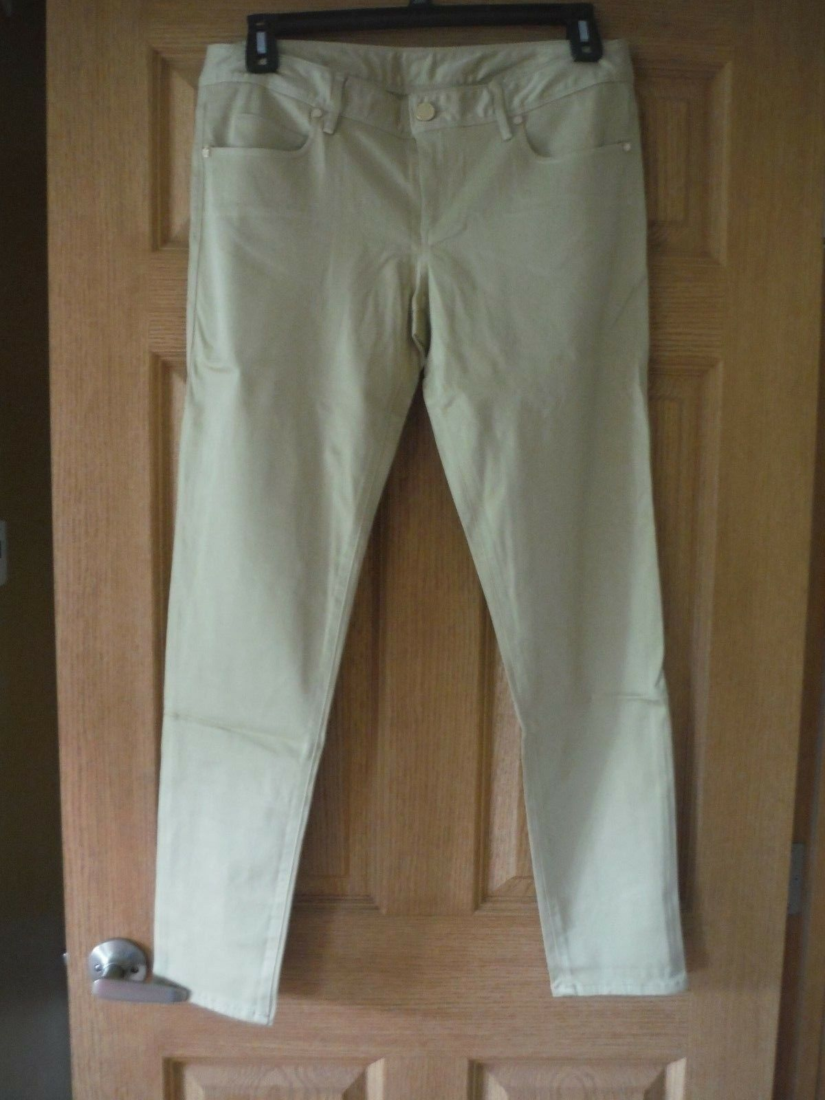 NEW Lilly Pulitzer  WORTH SKINNY PANT Sand Bar Sateen Jeans 10,12,14