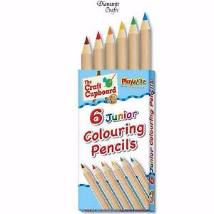 4 x Pencils Half Size Assorted Coloured Art Craft Kids School Party Bag Favour