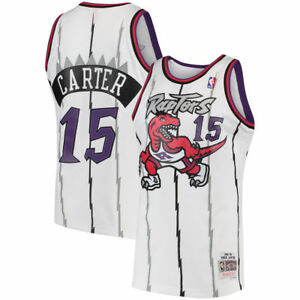 900872fb56c2 Image is loading Toronto-Raptors-Vince-Carter-Mitchell-Ness-White-Hardwood-