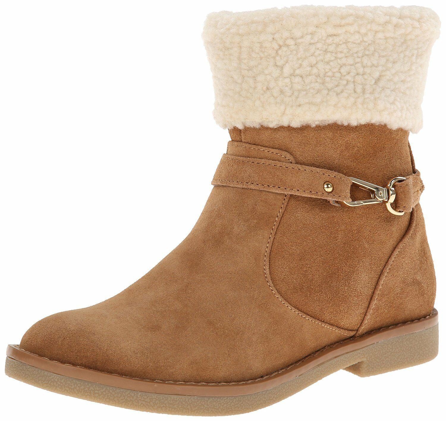 Tommy Hilfiger NESSY Camel Suede Snowboot w/Shearling Lining & Cuff, 5M - 99